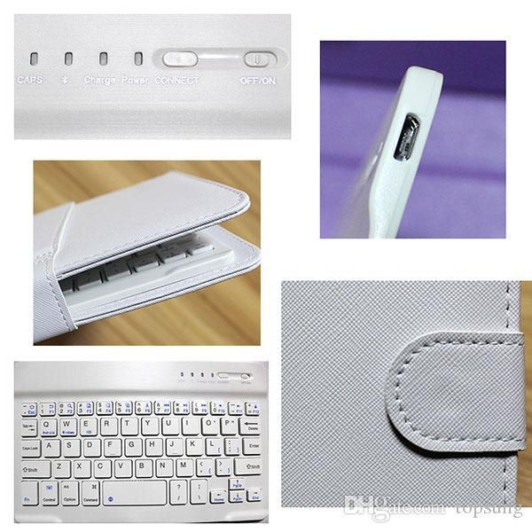 Flip Leather Case with Stand Bluetooth Keyboard Phone Bags for Apple iPhone 6 6S iPhone 5 5s Cellphone Cover for HTC Huawei Xiaomi OPPO Vivo