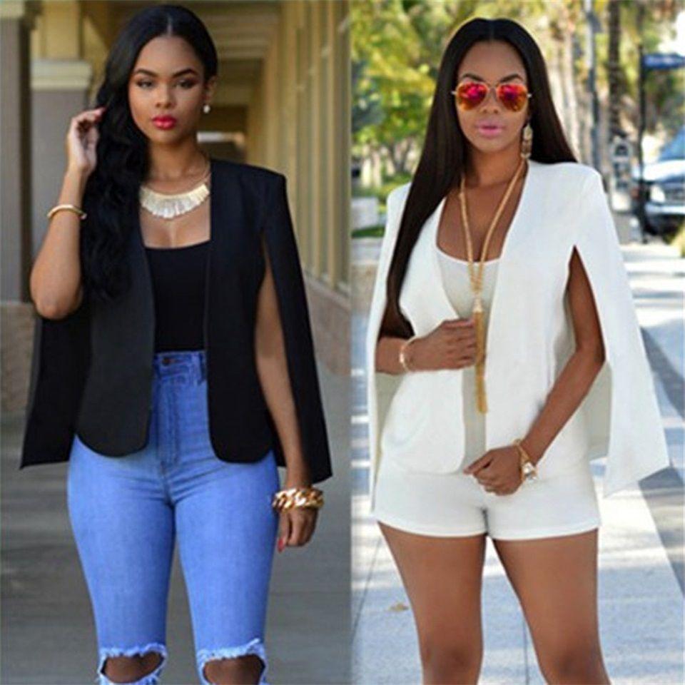 fashion plus size women short blazer suit coat female solid