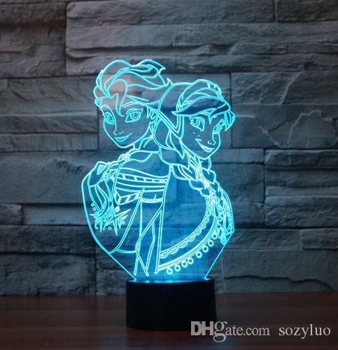 송료 무료 생일 축하 선물 7 색상 변덕 기상 비주얼 나이트 라이트 환상 램프 변경 아기 침실 홈 인테리어 장식