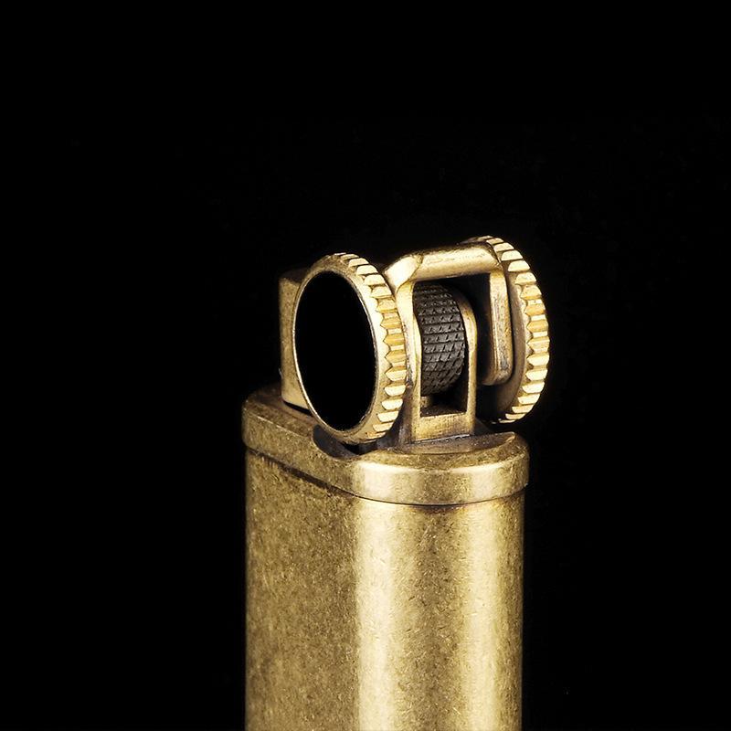 Новый горячий 2017 Честный ретро чистая медь шлифовальный круг надувные зажигалка зажигания личности классический ностальгические высокого класса прикуривателя