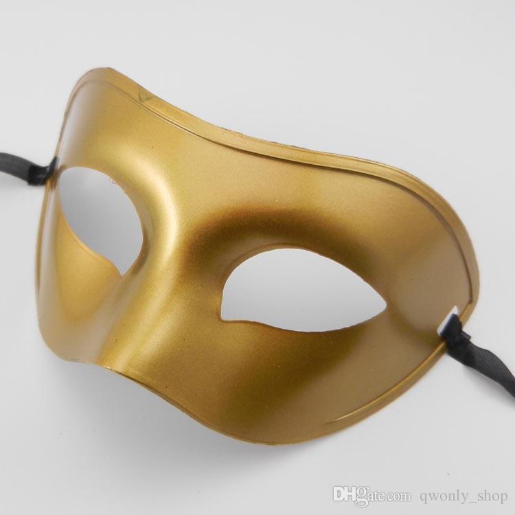 Masquerade Masque Déguisement Masques Vénitiens Masquerade Masques Masque Demi Visage Plastique Noir / Blanc / Or / Argent
