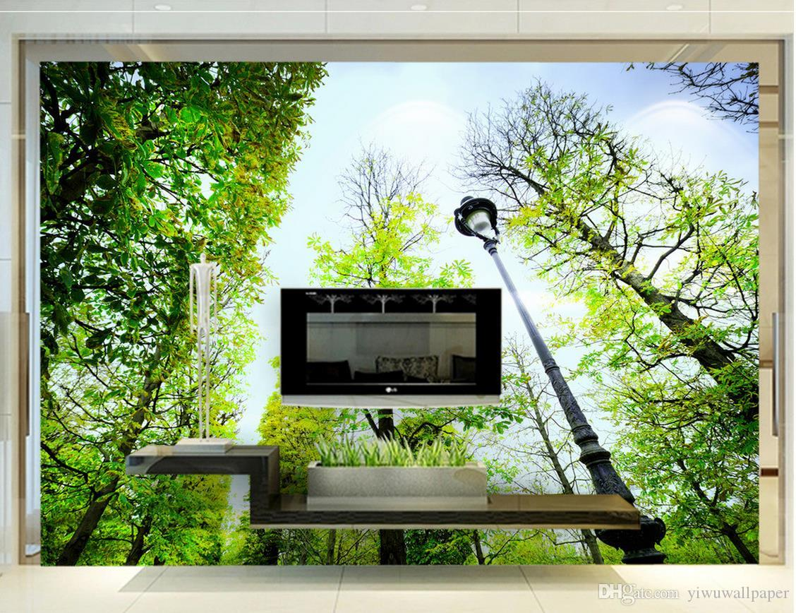Photo customize any size Nature Landscape Trees Trees TV Walls mural 3d wallpaper 3d wall papers for tv backdrop