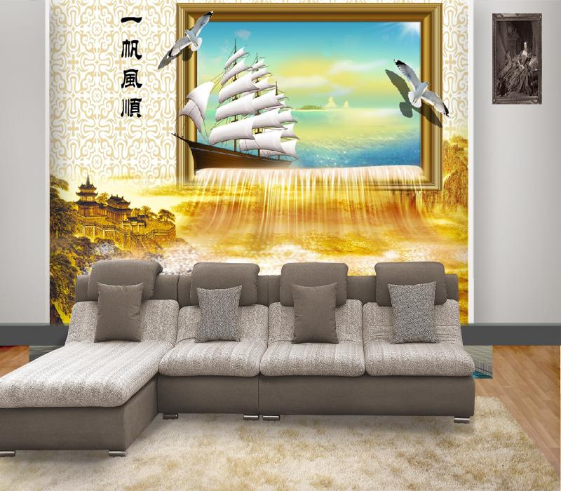 Chinese Style Smooth Sailing Good Luck Art Customized New Bedroom ...