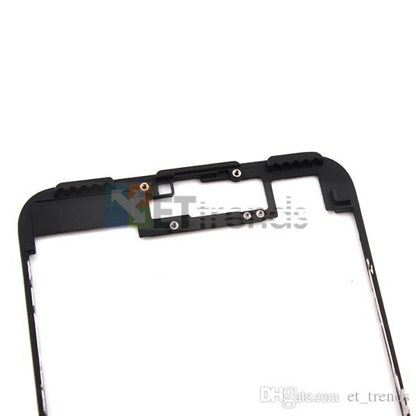 Moldura de alta qualidade com cola para iphone 7 plus lcd digitador moldura moldura da tela com cola substituição navio livre por dhl