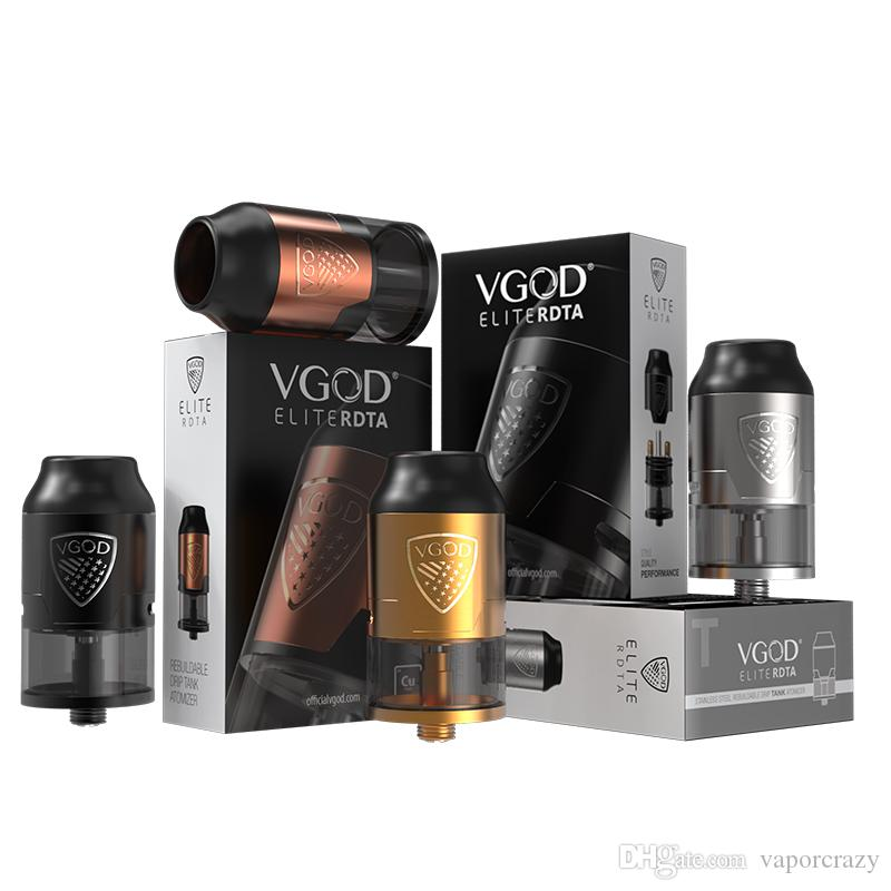 100% Original E vaporisateur de clope VGOD Elite RDTA atomiseur de réservoir 4 ml VGOD Elite RDTA avec diamètre de 24mm