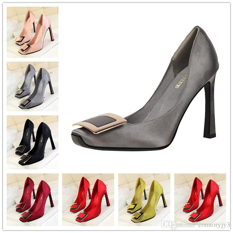 f2d75c8f9a 2017 Brand Shoes Woman High Heels Pumps Red High Heels 12CM Women Shoes  Wedding Shoes Pumps Black Nude Size 35-39