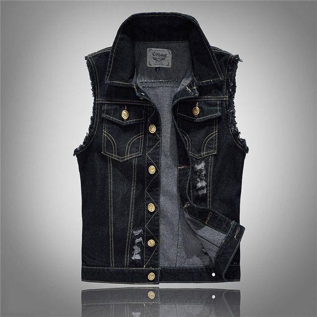 Großhandel Sommer Stil Designer Mode Marke Men s Denim Weste Dünne Schwarze  Oberbekleidung Herren Denim Coats Jacken Beiläufige Sleeveless Weste 5xl  Von ... d6b61e9d6c
