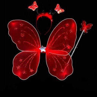 20 piezas Little girl angel butterfly wings juguete de tres piezas para niños accesorios de disfraces varita mágica varita mágica