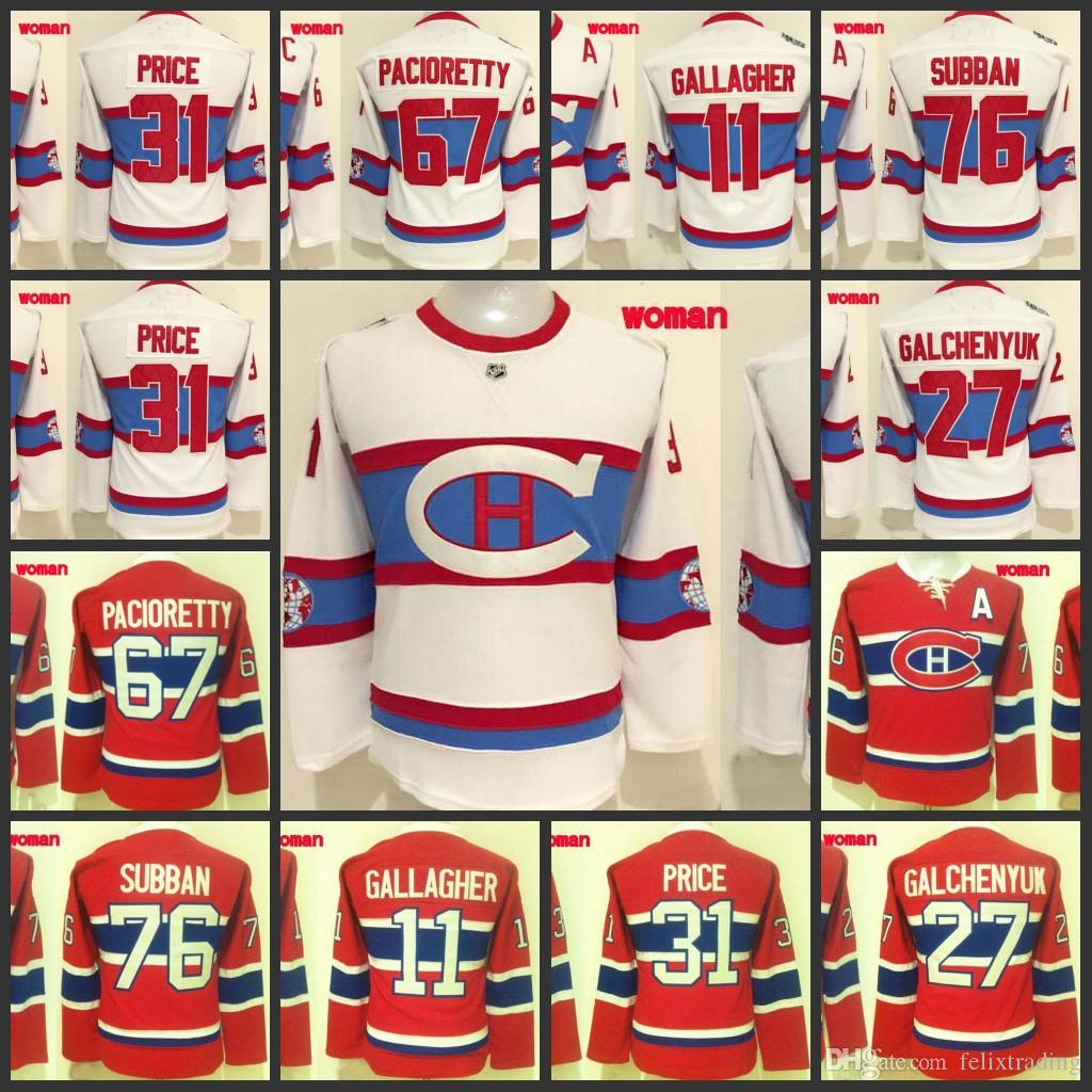 daf075eec ... 11 Brendan Gallagher 27 Alex Galchenyuk 31 Carey Price 67 2017 Women 31  Carey Price Hockey Jerseys 67 Max Pacioretty 7 ...