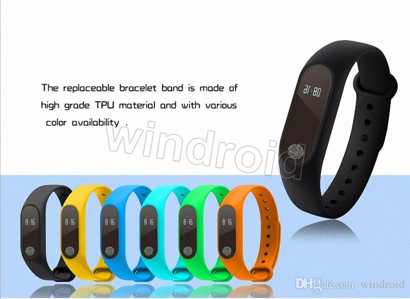 Smartband impermeabile del silicone degli uomini della vigilanza del braccialetto del cardiofrequenzimetro del braccialetto del braccialetto di sport di M2 M2 trasporto libero di Android IOS