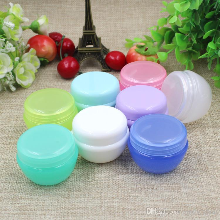 10g empty cosmetic cream PET jars with plastic lids,5g/10g clear cream containers for cosmetics,empty plastic jar