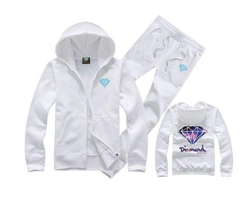 08 freies Verschiffen Diamant-Versorgungs-Hoodies + pants Männer Hip Hop Cotton Sweatshirts schwarzer Buchstabe Baseball