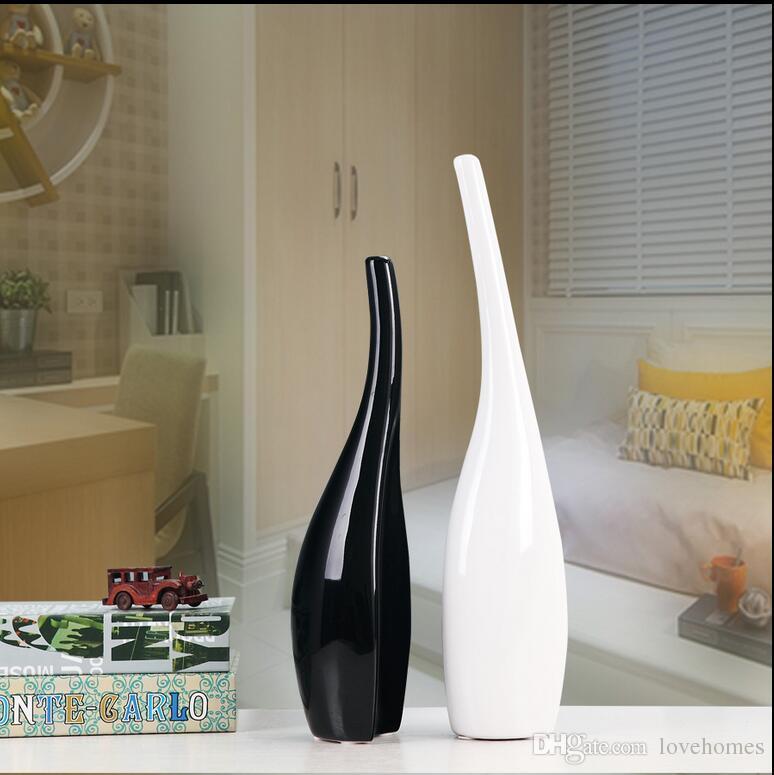 Vase en céramique moderne pour la décoration de la maison vase de table blanc balck jaune argent or couleur choix