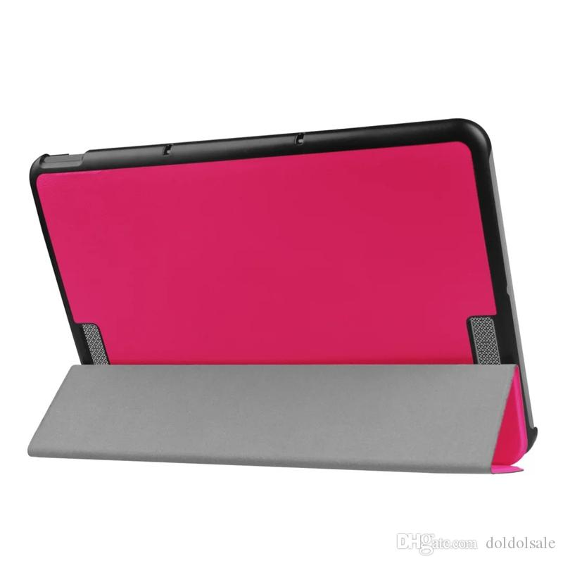 Ultra Slim Tri-Fold PU Leather Case Stand Cover for ASUS Transformer BOOK T101HA 10.1 inch Flip Cases with Stand