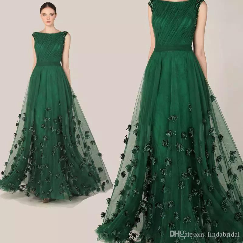Green cocktail dress 2018