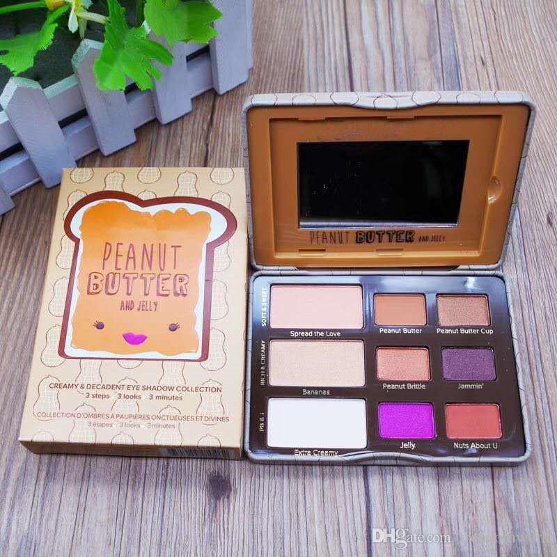 Top qualité Face Beurre D'arachide Jelly Eye Shadow Palette 9 Couleur Fard À Paupières Palette New Arrrival livraison gratuite