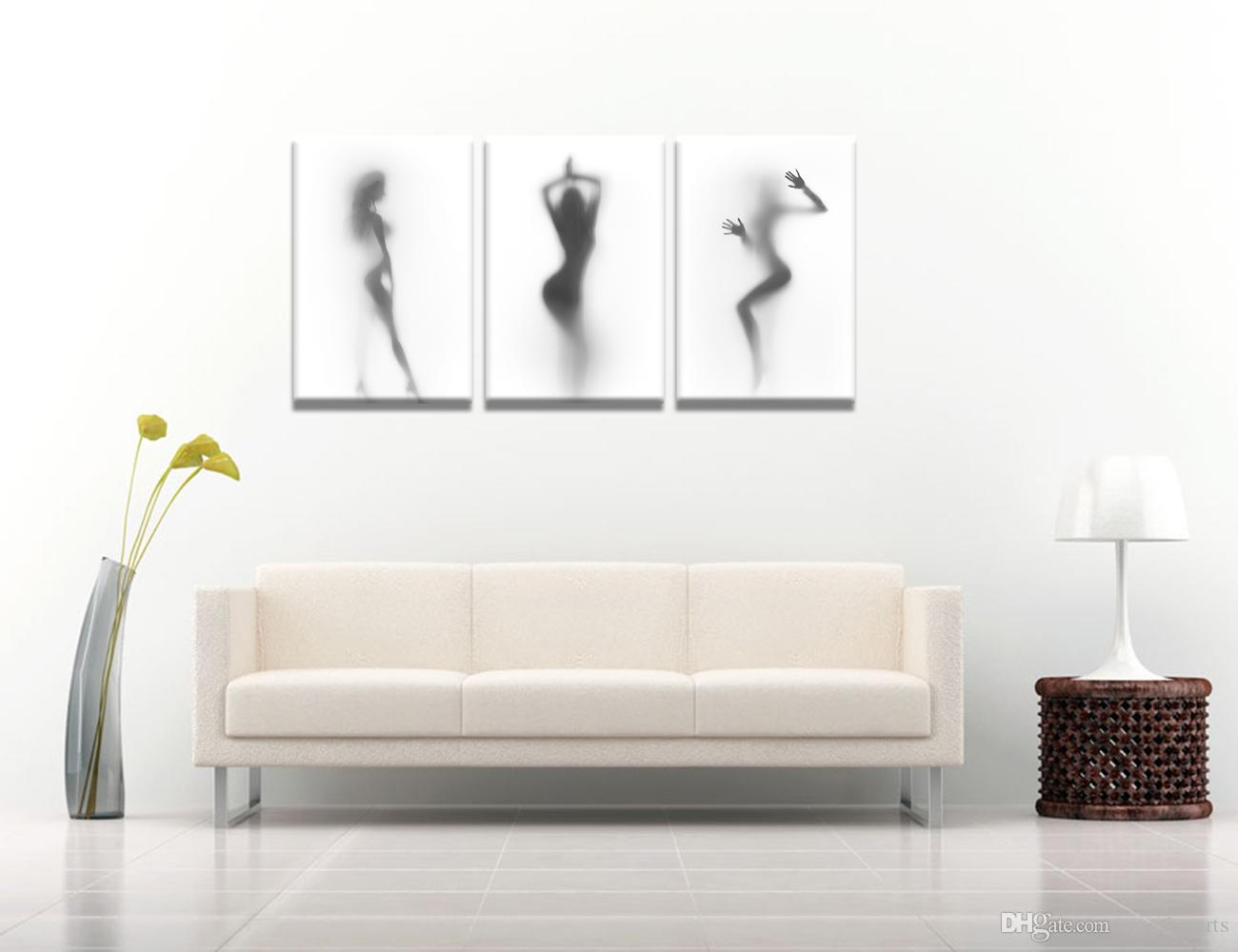 Modern Atistic Beauty Photo Print on Canvas Home Made DIY Canvas Wall Decor HD Charming Body Shape Picture Canvas Printing