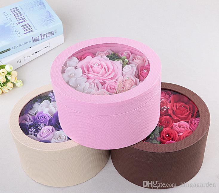 2018 Flannel Small Round Flower Box Valentine u0027S Day 9 Rose Flower Box Gift Box Packaging Wholesale From Kingagarden $85.43 | Dhgate.Com & 2018 Flannel Small Round Flower Box Valentine u0027S Day 9 Rose Flower ... Aboutintivar.Com