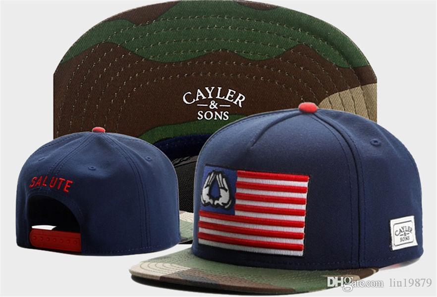a90a8c40816 2017 New Summer Style Hip Hop Cayler   Sons SALUTE Usa Flag Camo ...