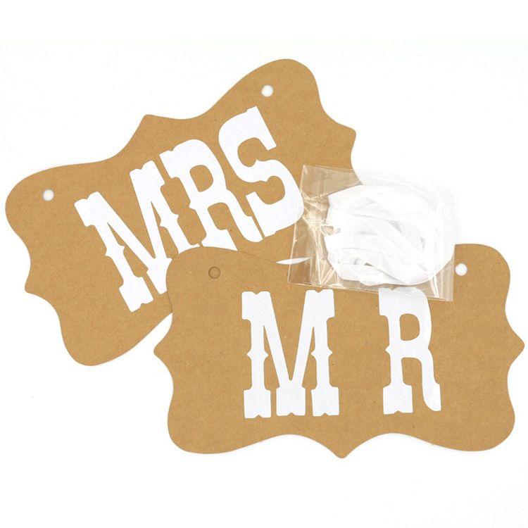 DIY MR MRS E Noivo Da Noiva Placa De Papel + Fita Sinal Foto Cabine Adereços Decoração Do Casamento Favor Do Partido Carta Garland Fontes Do Partido Do Floco De Neve