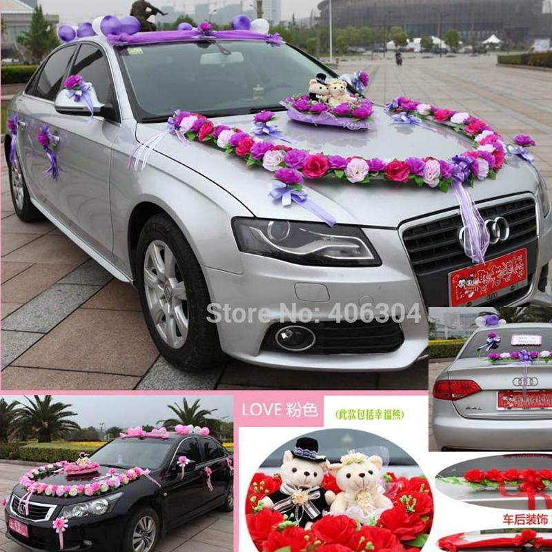 Best artificial flowers wedding car decoration flowers set red pink best artificial flowers wedding car decoration flowers set red pink purple round wedding car flower decoration with bear under 12473 dhgate junglespirit Choice Image