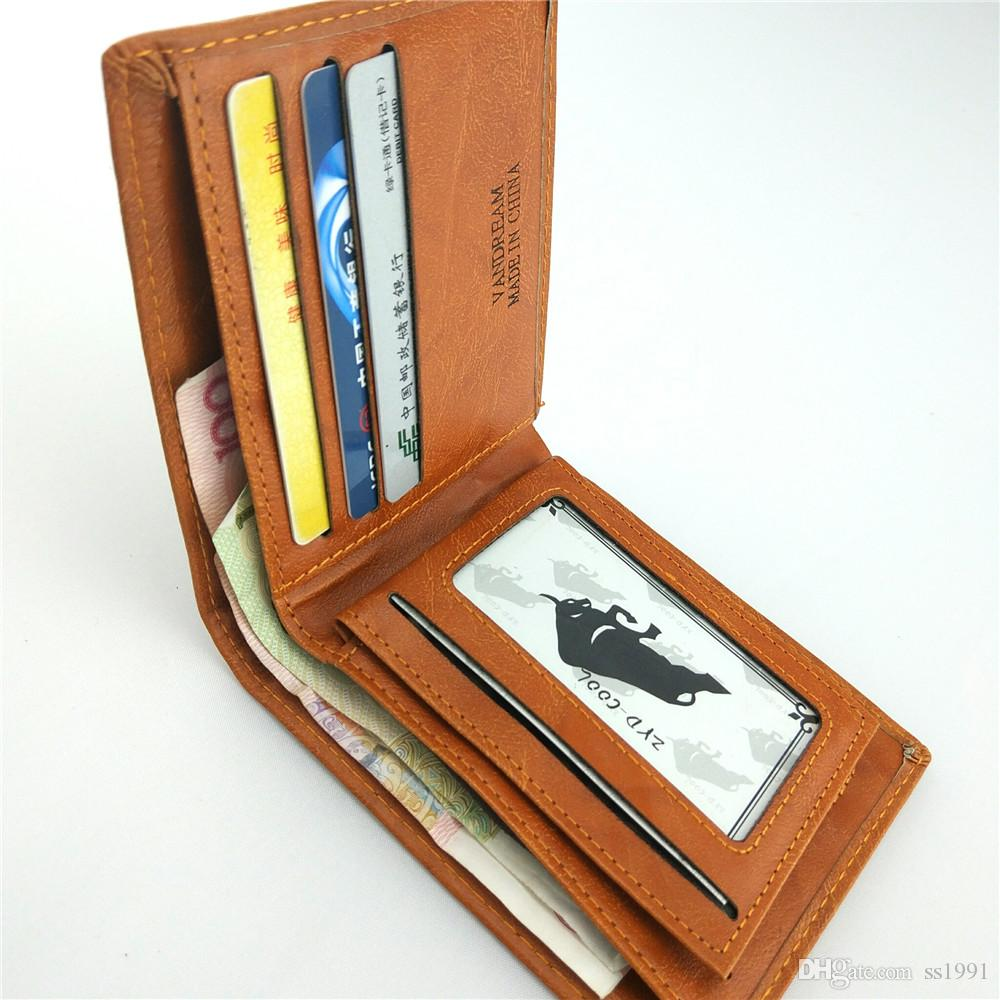 Men Wallet New Fashion Sale Dollar Price Pattern Designer Men's Wallets Casual Credit Card Holder Purse