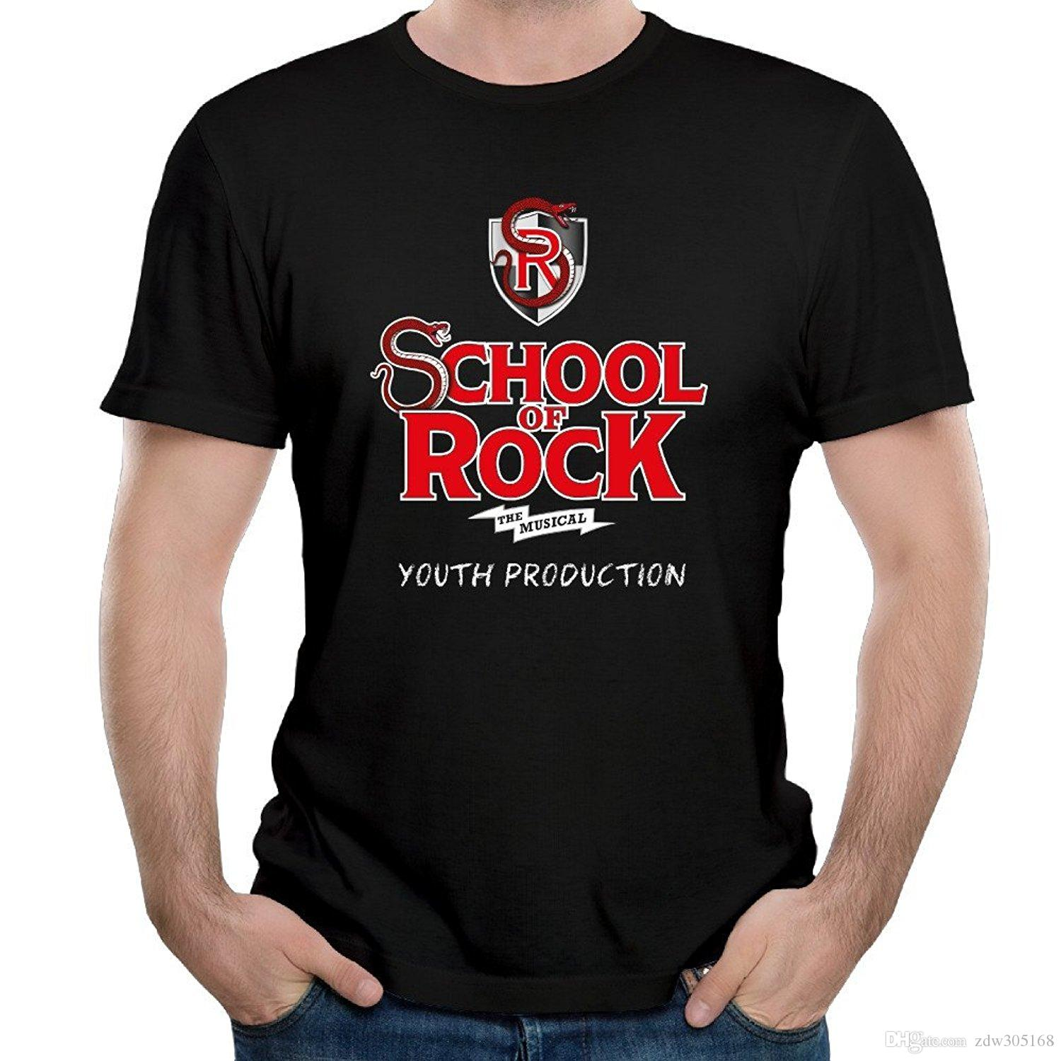 School Of Rock Musical Logo Black Cool Political Adult 2017 New ...