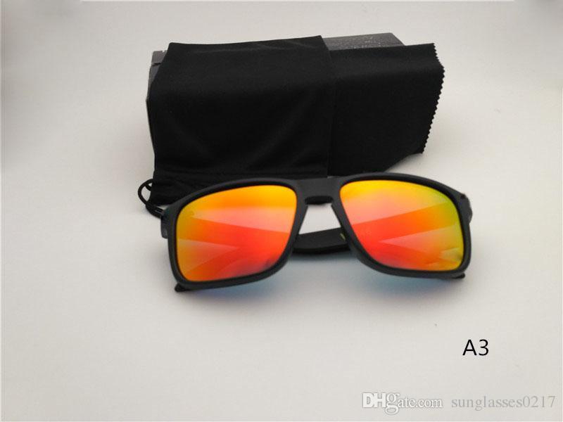 En kaliteli güneş gözlüğü Erkekler kadınlar Yaz güneş gözlüğü UV400 polarize kutusu ile altın Spor Güneş erkek güneş gözlüğü