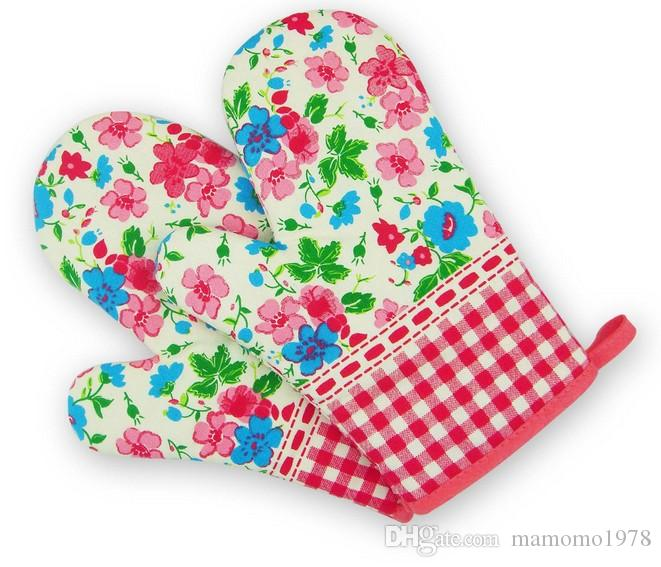Print Oven Mitts High Temperature Microwave Oven Baking