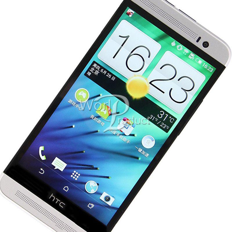 Téléphone portable d'origine HTC One E8 débloqué GSM 3G4G Quad-core 5 pouces, 2 Go, 16 Go, GPS remis à neuf