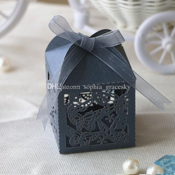 laser cut Hollow Butterfly Design paper wedding Birthday candy chocolate snack boxes birthday party supplies