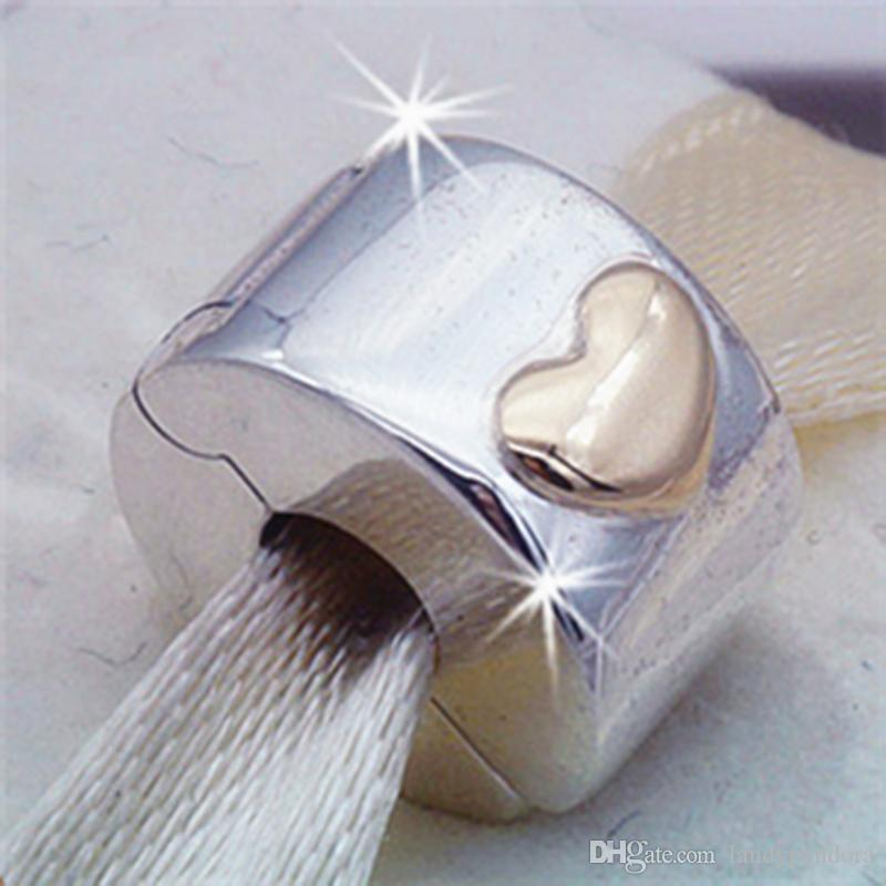 cd357ee6692 2019 2017 Spring 925 Sterling Silver Classic Heart Clip Charm Bead Fits  European Pandora Jewelry Bracelets Necklaces & Pendant From Landypandora,  ...