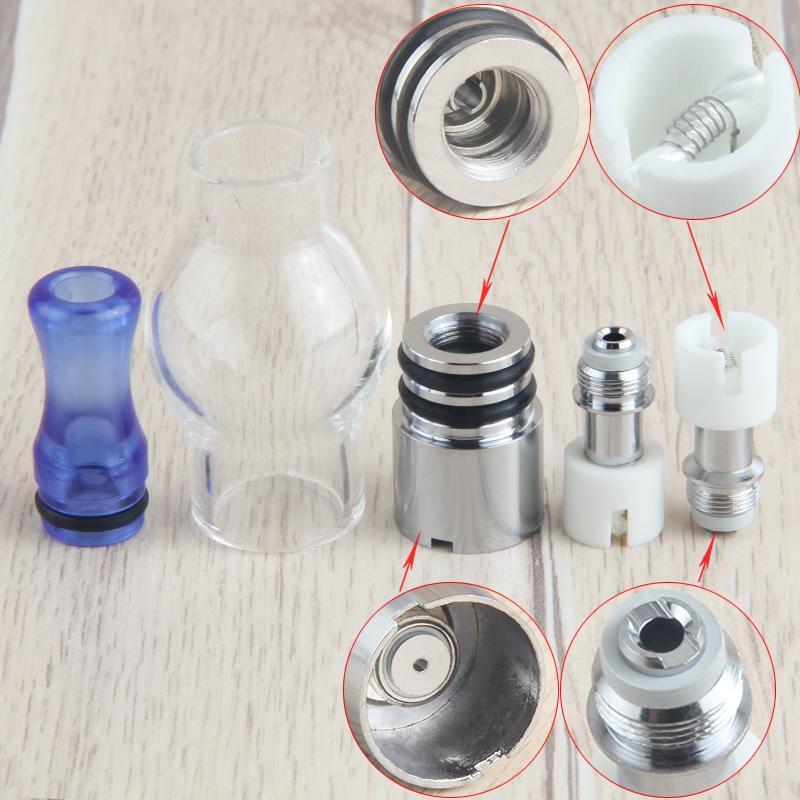 Atomizzatori globo di vetro Cera penna vaporizzatore vaporizzatore erba secca 510 vapor e cig a base di erbe con bobina di cotone ceramica di ricambio Globo in vetro DHL Free