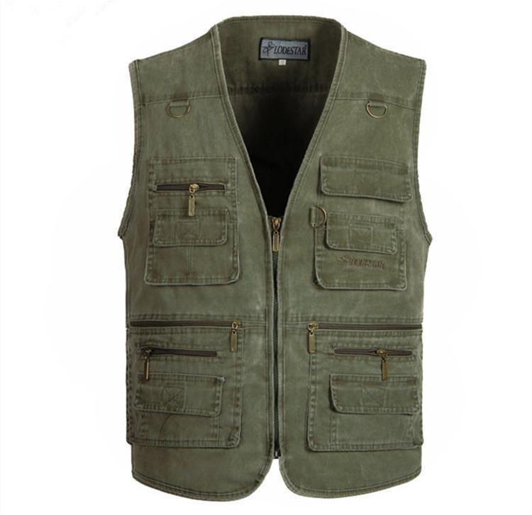 PLUS SIZE XL-4XL 5XL tactical Vest Men New Arrival Multi-pockets Photography Cameraman Vest Gear Outdoor Hunting Jacket