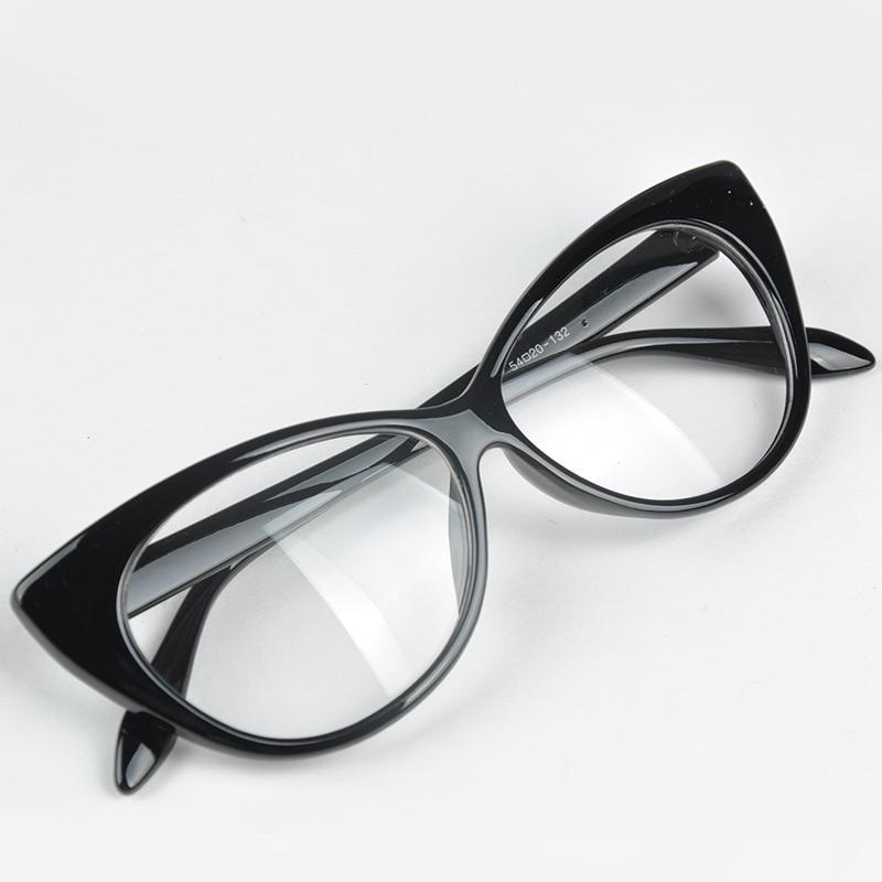 0821b77e42f8f Compre Venda Por Atacado Bonito Adorável Olho De Gato Óculos De Armação  Mulheres Moda Festa De Praia De Compras De Óculos Acessórios Para Óculos 7  Cores De ...