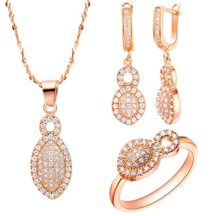 Orecchini pendenti in argento sterling 925 Anello donna Gioielli regalo parola NOVITÀ del seme Austria cristallo anello goccia d'acqua moda europea e A