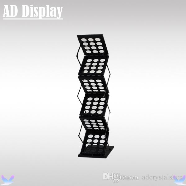 Exhibition Literature Stand : 2019 exhibition booth a4 black brochure rack display stand