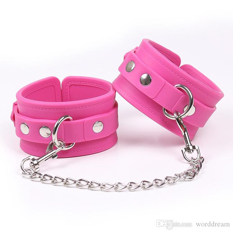 Lockable Silicone Hand Wrist Cuffs Bondage Slave Restraints Belt In Adult Games For Couples,Fetish Sex Toys For Women