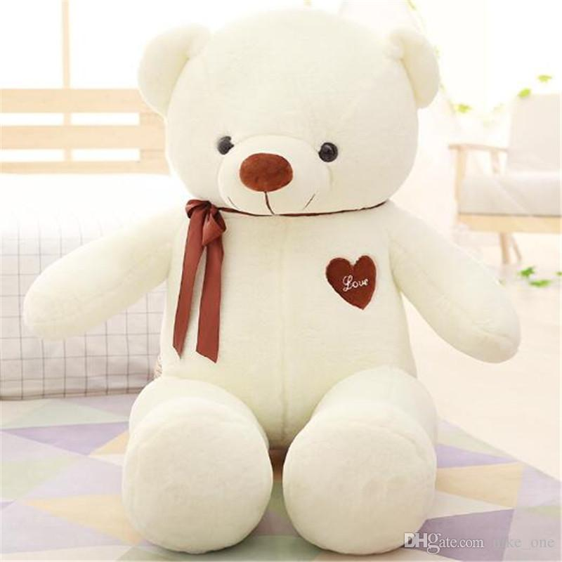 2019 Giant Teddy Bear Stuffed Animals Heart 80cm White Pink For Baby Plush  Toys Kids Gift Cute Doll Soft Toy Girlfriend Birthday Love Wholesale From  Okbrand ... 926196174