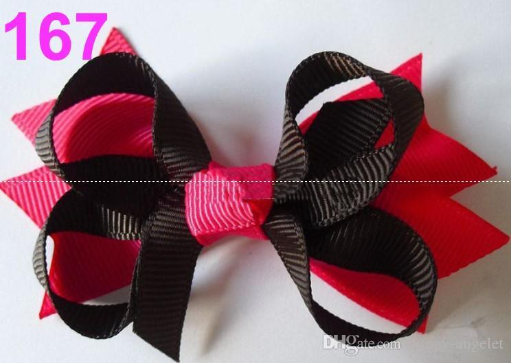 20 sztuk dziecięcych dziewcząt 3,5 calowe włosy kokardki klipy grosgrain wstążka pasmo włosów szpilki głowy włosy elastyczne akcesoria HD3551