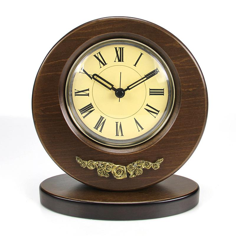 Home & Garden 3d Coffee Cup Decorative Small Wood Alarm Clock Creative Antique Table Clock Desktop Home Time Office Clock Home Decor The Latest Fashion