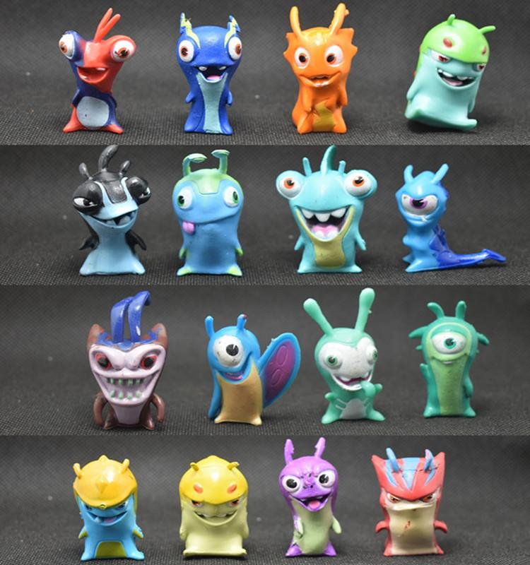 16pcs/set Slugterra Action Figures Toys Anime Cartoon Slugterra Toys Slugs Children Kids Gift 4.5-5cm