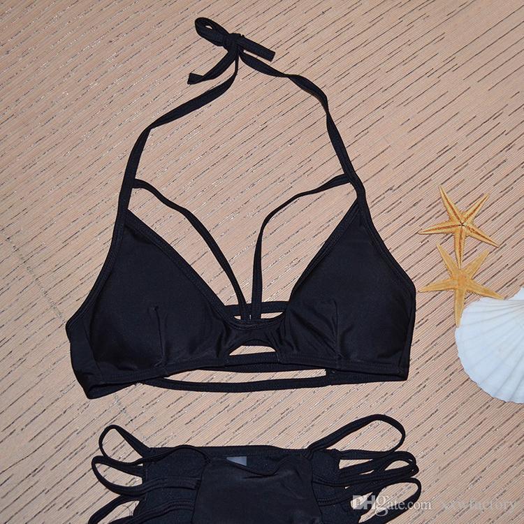 sexy bikini set brazilian bikini swimwear women halter swimsuit biquini high neck bikini maillot de bain femme Beachwear