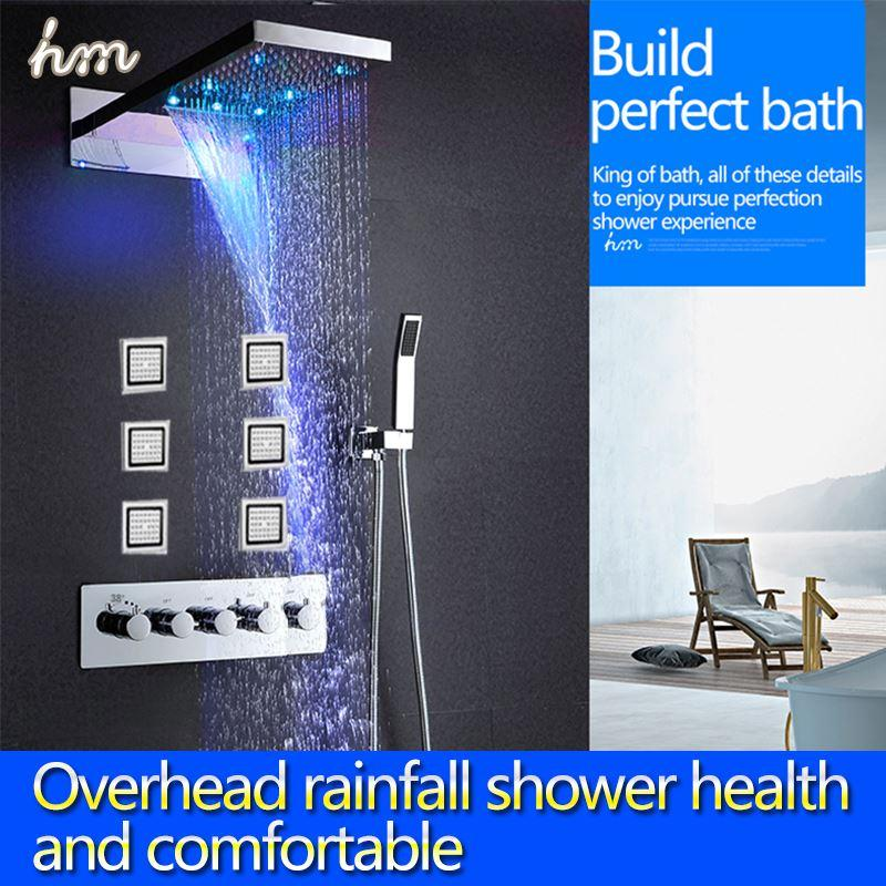 2018 Kan Multi Function Embed Waterfall Shower,Led Rain Shower With ...
