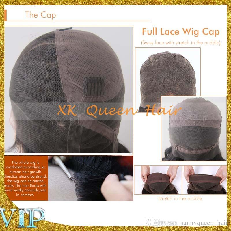 8A Top Quality Brazilian Human Hair Wigs Big Curly Full Lace Wigs For Black Women Virgin Hair Lace Front Wigs Bleached Knots