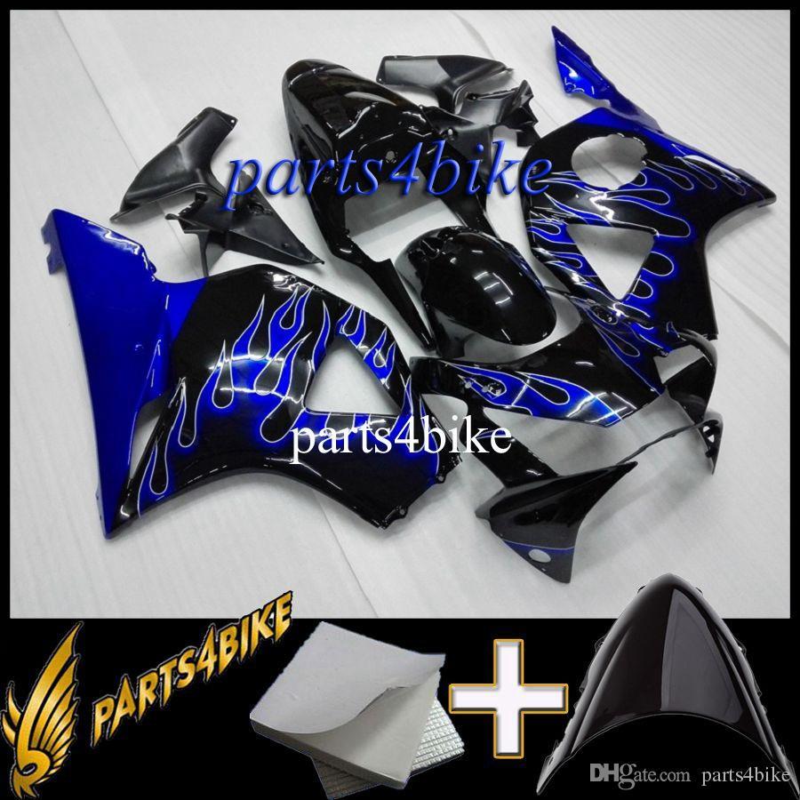 Carenagem do ABS para Honda CBR954RR 2002-2003 Kit de Carroceria da motocicleta para chamas azuis