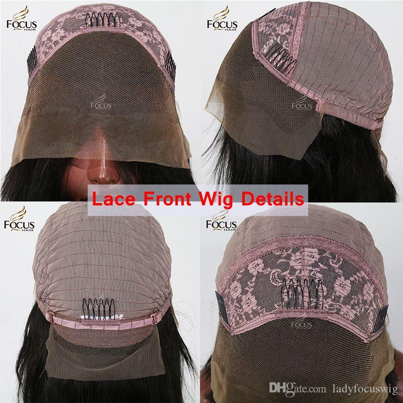Lady Focus Baby Pink Wig Full Lace Human Hair Wigs With Baby Hair 180 Density Natural Wave Lace Front Wig 9A Virgin Hair