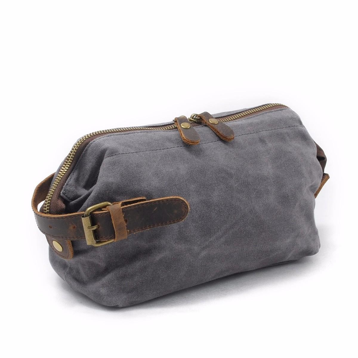 2d6af155c2 Daygos Canvas Travel Toiletry Organizer Shaving Dopp Kit Leather Travel Cosmetic  Bag Makeup Men Handbag Casual Zipper Wash Cases Cosmetics Wholesale Free ...