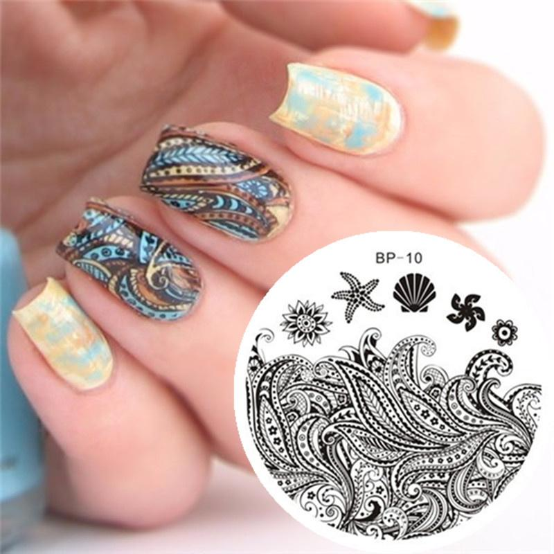 Wholesale Born Pretty Starfish Shell Theme Nail Art Stamp Template