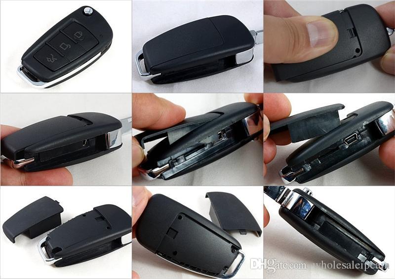 1080P Portable DVR Multifonctionnel Enregistreur HD Caméra Porte-clés Porte-clés Mini Caméscope IR Vision Nocturne Caméra S820 avec Dectection de Mouvement